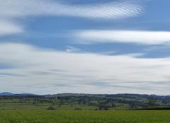 Nuages Varenne-l'Arconce 71110 Voile de nuage sur le Brionnais
