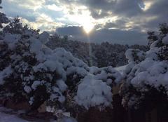 Ciel Sollies-Toucas 83210 Sollies Toucas pendant les épisodes neigeux