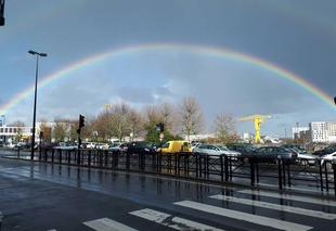 Orage Nantes 44000 Arc en ciel