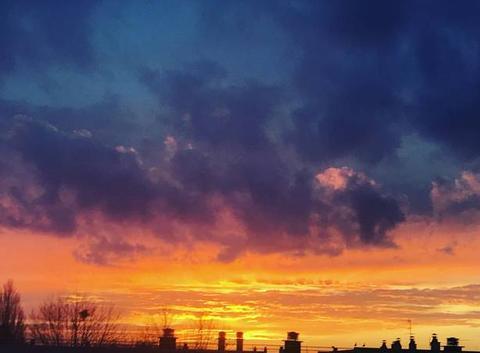 Sunset sur les toits du Havre