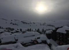 Ciel Macot-la-Plagne 73210 Soleil voilé à belle Plagne