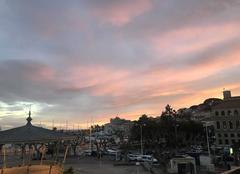Ciel Cannes 06400 Rouge le soir, Beau temps espoir