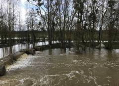 Pluie Montbizot 72380 Inondations au Moulin