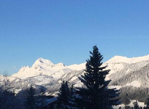 Le Mont Charvin vu de Megève