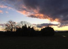 Ciel Saint-Paul-les-Romans 26750 Ciel crépusculaire sur les champs environnants