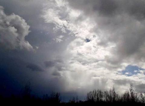 Ciel avant les fortes pluies