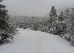 Neige Bargème 83840 Manteau de printemps