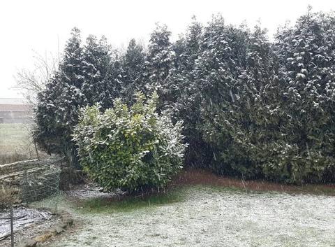 Neige a proximité de cambrai