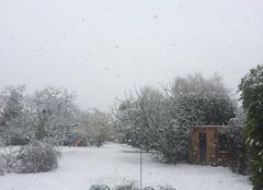 Neige Herblay 95220 Herblay sous la neige pour la St Patrick