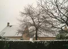 Neige Mery-sur-Oise 95540 Il neige sur mery depuis ce matin
