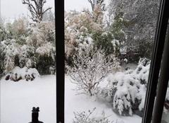 Neige Montmorency 95160 14cm chez mamie en fin de journée