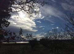 Ciel Mours-Saint-Eusebe 26540 Soleil voilé sous nuages de giboulées