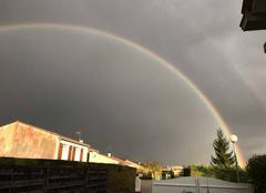 Ciel Saint-Georges-des-Coteaux 17810 Double rainbow