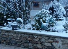 Neige Le Mee-sur-Seine 77350 La neige le 18 mars