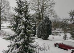 Neige Nanteuil-la-Foret 51480  en montagne de Reims