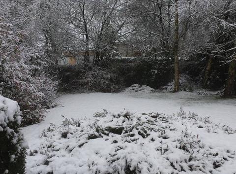 Neige à Saint Aubin du Cormier