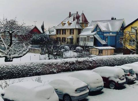 Bon dimanche sous la neige