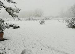 Neige Le Lorey 50570 La neige est déjà arrivée dans la manche