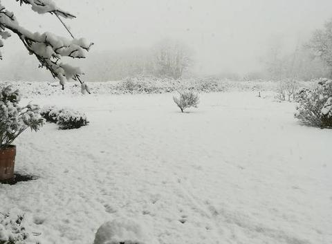 La neige est déjà arrivée dans la manche