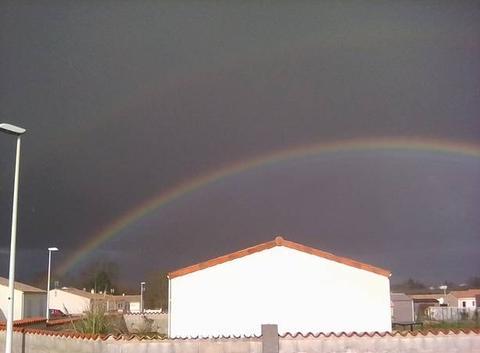 Pluie + arc en ciel ( 8°C) 16h35