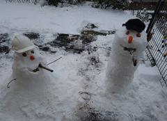 Neige Selestat 67600 Les ptits bonhommes de neige à 2 jours du printemps