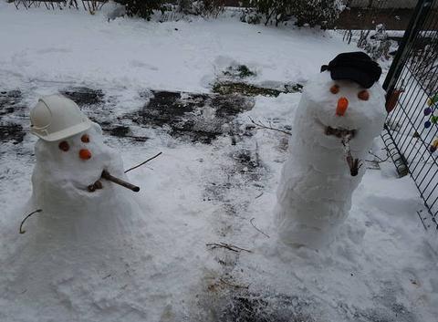 Les ptits bonhommes de neige 2j avant le printemps