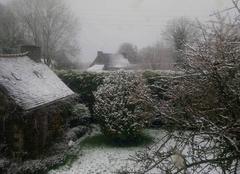 Neige Treffrin 22340 Centre Bretagne sous la neige