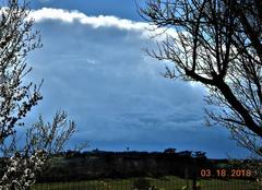 Ciel Nogaret 31540 Giboulées de mars.