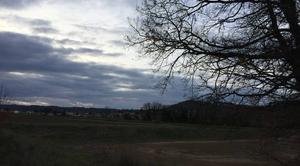 Ciel Mours-Saint-Eusebe 26540 Ciel crépusculaire sur la campagne