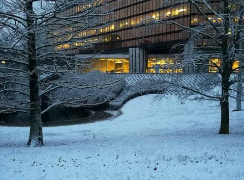 Préfecture sous la neige