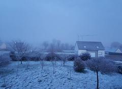 Neige Cleden-Poher 29270 Fine pellicule de neige