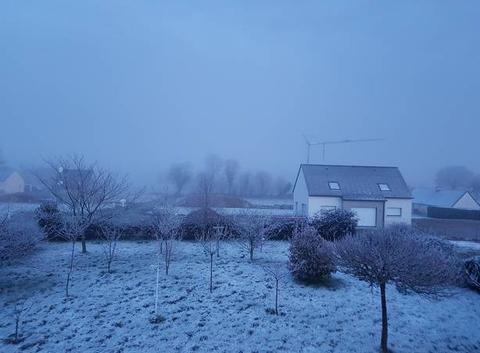 Fine pellicule de neige