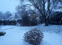 Ciel Tregarantec 29260 Il neige encore!