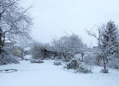 Neige Gravigny 27930 Réveil enneigé ce matin à 6 h 50