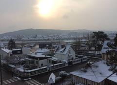 Neige Cabourg 14390 Réveil blanc
