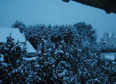 Neige Pleumeur-Bodou 22560 Pleumeur Bodou ce matin
