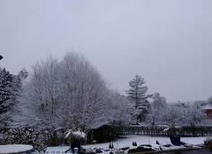 Neige Rostrenen 22110 Pas encore le printemps !
