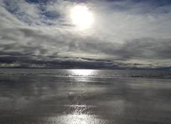 Mer La Baule-Escoublac 44500 Un ciel chargé reflétant sur la mer