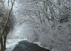 Neige Ouistreham 14150 La Normandie sous la neige