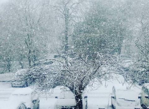 L?houmeau sous la neige
