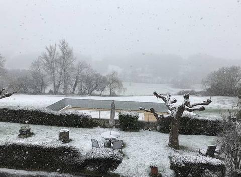 Le Couloumé Loudet sous la neige
