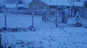 Neige Saint-Vivien-de-Medoc 33590 Il neige sur le médoc
