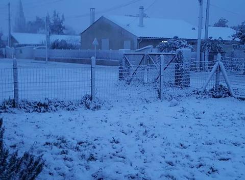 Il neige sur le médoc