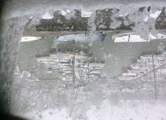 Neige Rochefort 17300 Bien au chaud derrière la vitre