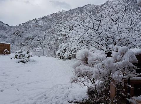 Neige à  Casteil