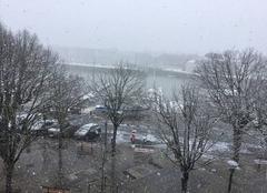 Neige La Rochelle 17000 Neige sur le vieux port