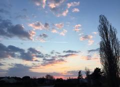 Ciel Mours-Saint-Eusebe 26540 Froid glacial sur soleil couchant