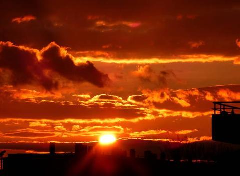 Magnifique ciel de feu