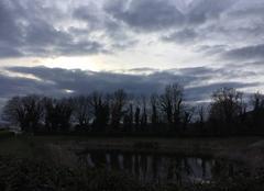 Ciel Mours-Saint-Eusebe 26540 Doux ciel crépusculaire sous froid glacial