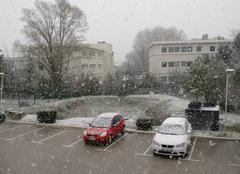 Neige Gemenos 13420 Neige jour de printemps